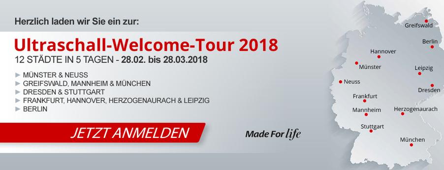 Einladung zur Ultraschall-Welcome-Tour 2018